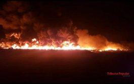 Depósito com 30 mil cobertas pega fogo no Paraguai