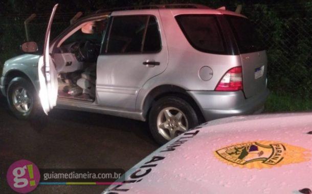 Itaipulândia: PM apreende veículo com indícios de adulteração e documento falso