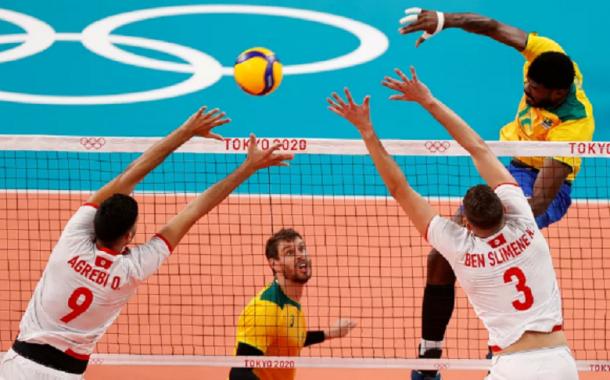 Brasil vence Tunísia por 3 sets a 0 na estreia em Tóquio