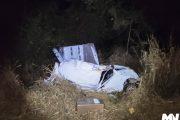 Com carro carregado de contrabando, motorista morre em capotamento em Mal. Cândido Rondon