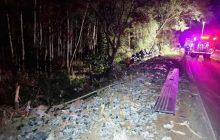 Caminhoneiro morre em acidente entre Ouro Verde do Oeste a luz Marina