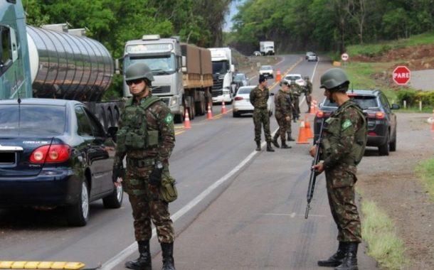 Militar do Exército sofre descarga elétrica durante fiscalização na rodovia entre Pato Bragado e Entre Rios do Oeste