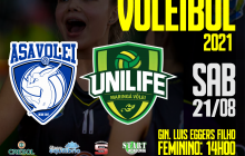 Asavolei recebe hoje (21) Maringá pela segunda rodada do Paranaense de Voleibol