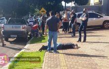 Medianeira: Discussão no centro termina com empresário morto e autor dos disparos preso em flagrante