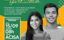 """Evento em Santa Helena aborda oportunidades da """"Lei do Jovem Aprendiz"""""""