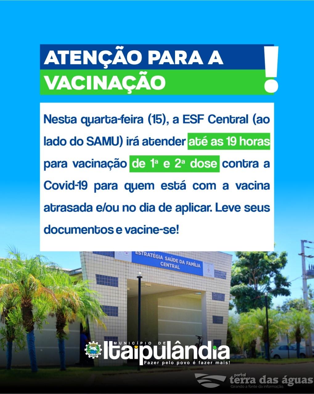 Vacinação contra Covid-19 em Itaipulândia