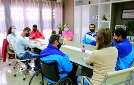 Prefeita Cleide Prates recebe alunos e professoras da Multi-Educar