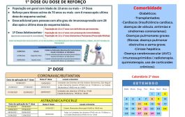 Vacinação contra Covid-19 continua neste sábado (25) em Santa Helena