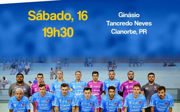 Neste sábado nossos heróis do futsal itaipulandiense irão enfrentar o Cianorte Futsal
