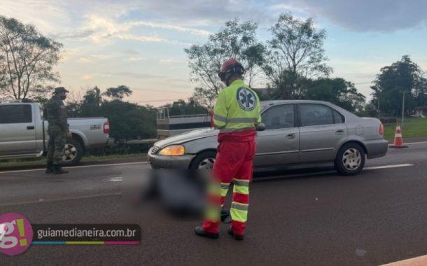 Motociclista morre em acidente na BR 277, entre São Miguel e Medianeira